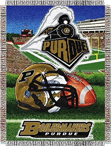 NCAA Purdue Boilermakers 48-Inch-by-60-Inch Acrylic Tapestry Throw