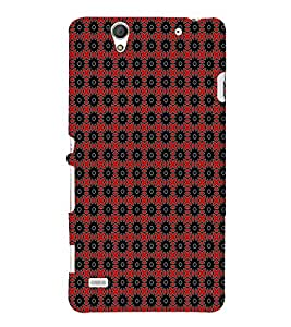 EPICCASE red sparkles Mobile Back Case Cover For Sony Xperia C4 (Designer Case)