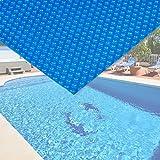 Pool Solarfolie 4x6m blau Poolabdeckung Solarplane Poolheizung