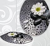 StickerProfis WC Sitz Aufkleber WHITE FLOWER Design Folie Dekor für