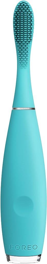 FOREO ISSA mini spazzolino elettrico per bambini Summer Sky, Design svedese, dotato di setole in silicone delicate, Ricaric
