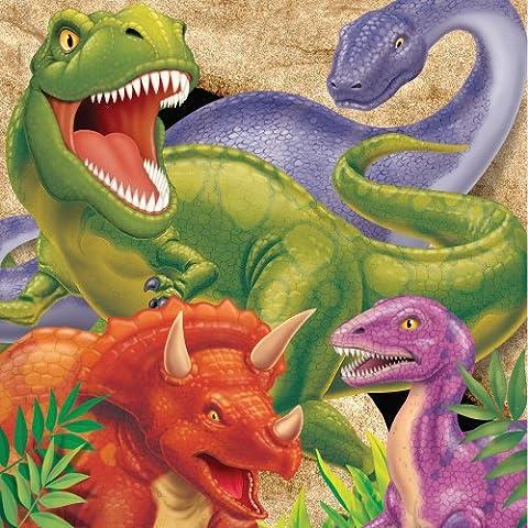 Dino targeta Plain Servilletas Almuerzo (Pack de 16)