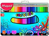 Maped Color'Peps 832059 Lot de 48 Crayons de couleur Boîte Metal
