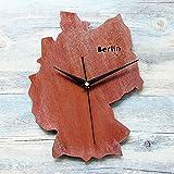 LLL-Mode Kreative Wanduhr Retro Tun Alte Rost Metall Berlin Karte Deutscher Stadt Uhr, Berlin, 30cm