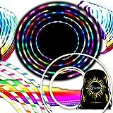 Flames N Games Euphoria Glow LED Hula Hoop Reifen mit 29 Blinkenden Farbig LEDs - Akku und Ladegerät Enthalten + Tasche! Helle Farben Für Hoop Dance und Übung Für Alle Altersgruppen - 90cm! (Blau)