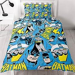 DC Comics Batman DC 'Hero' Diseño de impresión de repetición de–Juego de funda de edredón y funda
