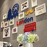 Unbekannt Créatif Salon Wall Panel Home Meubles pour chambre Lit? suspendre des enfants décorations angebrachtdassalle-Blanc + à l'abrasion fixe en caoutchouc bleu d