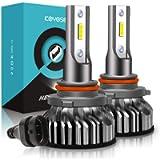 Lampadine 9005/HB3 LED 10000LM, Kit Lampada Sostituzione per Alogena Lampade e Xenon Luci, 12V 6000K Bianco