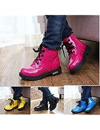 4 colores Unisex Niños Botas con impermeable de cuero de la PU Martin Botas para Niños y Niñas Zapatos Niños Invierno Nieve