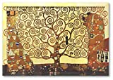 Poster/Kunstdruck Bild Kunstdruck Gustav Klimt Klimt Baum des Lebens mit Rahmen 99 x 69 cm