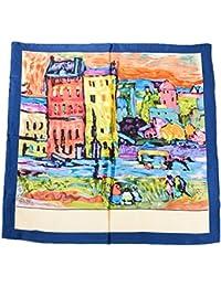 Prettystern - 90cm carré en pure soie Foulard Echarpe Art impression - Wassily Kandinsky - Case a Monaco -3 couleurs