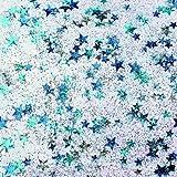 Glitter Glue Confetti Sterne blau/silber 53ml