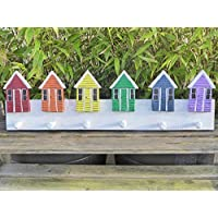 Eden Gifts NAUTICAL Painted Beach House Hut Hanger Coat Key Hook 60cm.