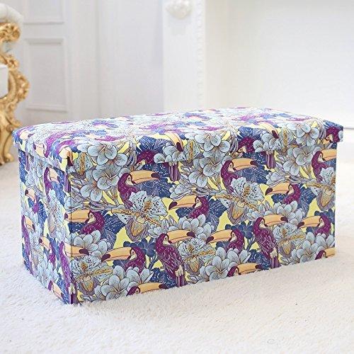 Klappbarer Holz-box (HOMEE Sofa Hocker - Stehhocker Wechsel Schuhhocker Stehhocker Stehhocker Großer Finishing-Box Klappbarer Hocker für den Schuhlöffel platzierbar (Farbe optional) - Stauraum,B)