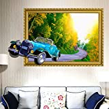 ALLDOLWEGE The bedrooms are modern3DClassic Cars stereo wall mount book rooms boys bedroom sticker decorations waterproof removable canvas,3DClassic Cars