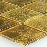 Glasmosaik Effekt Mosaik Fliese Gold 48x48x4mm