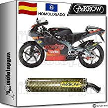 ARROW TUBO DE ESCAPE ROUND KEVLAR HOM APRILIA RS 125 REPLICA 2003 03 2004 04