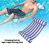 prom-note Schwimmende Hängematte Pool Float Sommer Outdoor Erwachsene Wasser Floating Bed & aufblasbar Schwimmbad Liege bequem Pool Party, blau