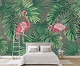 Kuamai 3D Foresta Pluviale Tropicale Carta Da Parati Arte Murale Soggiorno Divano Sfondo Camera Da Letto Murale Heron Wallpaper Decor-120X100cm
