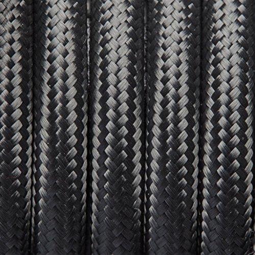 Gris Tissu ronde Flex – 3 Core câble à gaine tressée d'éclairage de fils