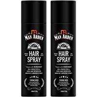 Man Arden Hair Spray - Strong Hold, Styling with Nourishment - Argan Oil and Bhringraj, 180 ml (1+1 Offer)