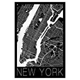 artboxONE Poster 30x20 cm Retro Map of New York City von Künstler David Springmeyer
