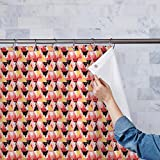 AZ Geometrical Behaviour Washable Waterproof Shower Curtain 54 x 72inch; SET OF 2 PCS
