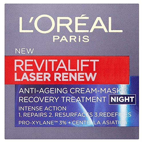 L'Oréal Paris Revitalift Laser Erneuern Nachtcreme (50 ml) - Packung mit 2