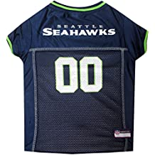 Camiseta de la Liga Nacional de Fútbol Americano (NFL) para mascotas - Camiseta de fútbol americano para perros. Disponible en 6 tamaños.
