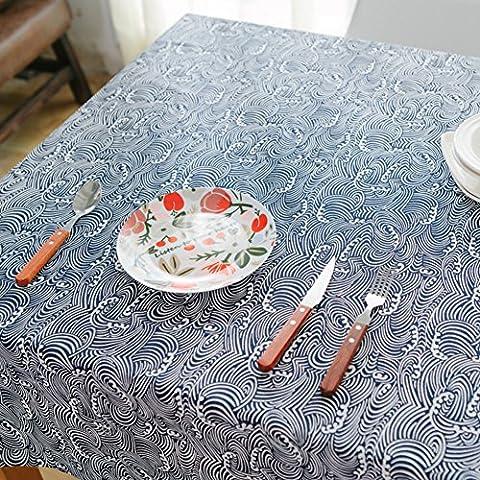 Tessuto blu marino giapponese tovaglia vintage/ bella in fresca cotone/ Giappone il panno tradizionale arte povera/ Gabe-C 40x60cm(16x24inch)