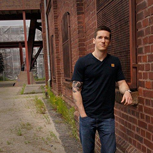 urban air StyleFit   T-Shirt Basic   Herren   Sport und Freizeit   95% Baumwolle, Leder-Patch, Kurzarm   Weiß, Schwarz, oder Hell/Dunkel Grau   S, M, L, XL Schwarz