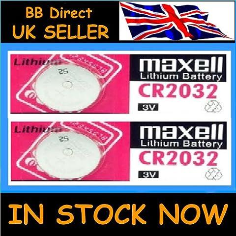 2 x de alta calidad MAXELL CR2032 pilas 3 V batería de litio cr 2032 llave mando a distancia