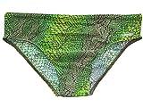 Solar Tan Thru Badehose Slip grün/braun, Gr. 4, S
