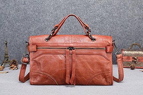 GUANGMING77 _ Borsetta Crossbody Bag Sacca A Doppio Scopo Materiale Portatile,Nero Khaki