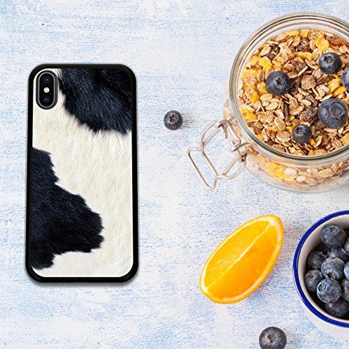 iPhone X Hülle, WoowCase Handyhülle Silikon für [ iPhone X ] Weißer und blauer Marmor Handytasche Handy Cover Case Schutzhülle Flexible TPU - Transparent Housse Gel iPhone X Schwarze D0515