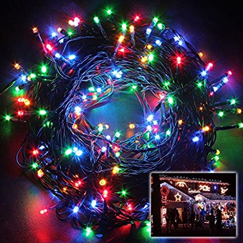 MORNINGSUN Solar Powered Decorative Twinkle LED Lights 22.9ft 50 Light