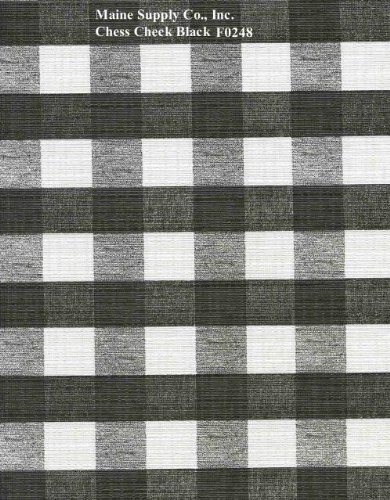 Black Chess Check Series F0248 Vinyl Tablecloth 54 x 45' Roll by Nordic Shield (Vinyl Tablecloth Roll)