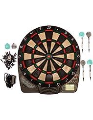 Best Sporting CHESTER elektronische Dartscheibe, Dardboard mit LCD-Anzeige, 6 Dartpfeilen und Ersatzspitzen, Dartautomat mit Netzadapter