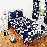Beddengoed met Tottenham Hotspur FC Design (eenpersoonsbed) (marineblauw/wit)