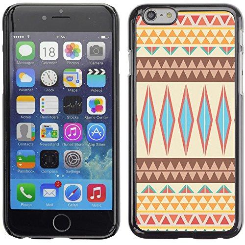 Graphic4You COLORFUL TRIBAL Muster Harte Hülle Case Tasche Schutzhülle für Apple iPhone 6 Plus / 6S Plus Design #6