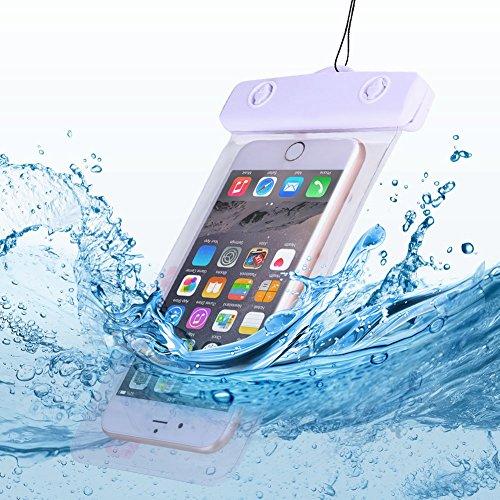 Anfire Funda Impermeable Bolsa para Teléfono Estanca Sumergible Bolsa Transparente Móvile para [6.0 Pulgadas] IPX8 Prueba Agua para iPhone 5/6/6S/7 Plus/8/X/Samsung S6/S7/S8/S9 - Flamencos Coloreados