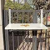 Zhuozi FUFU Wandhalterung Balkon Hängetisch Hängender Klapptisch Moderne Hausbar Wandbehang Schreibtisch Freizeit Tisch Drop-Blatt-Tabelle (Farbe : Cremeweiß, Größe : 77*40cm)