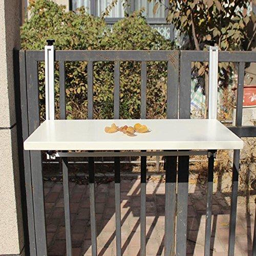 Zhuozi FUFU Wandhalterung Balkon Hängetisch Hängender Klapptisch Moderne Hausbar Wandbehang Schreibtisch Freizeit Tisch Drop-Blatt-Tabelle (Farbe : Cremeweiß, Größe : 77*40cm) (Freizeit-tabelle)