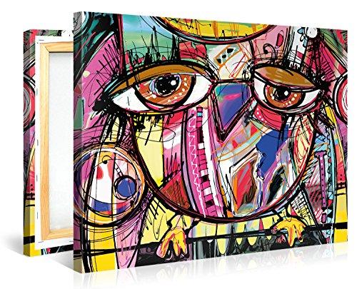 Gallery Of Innovative Art Stampa Artistica Su Tela, Soggetto: Gufo ...