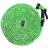 BJE 50 Feet Expandable Garden Hose & Spray Nozzle Combo, Garden Pipe, Magic Hose (Green & Blue Colors)