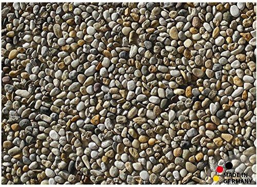 matches21 Fußmatte Fußabstreifer schmutzabsorbierend Schmutzfangmatte Steine Kieselsteine Steinoptik 50x70 cm waschbar