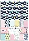 Toga PPK011 Géométrique Pastel Lot de 48 Feuilles imprimées Papier Multicolore 21 x 29,7 x 0,1 cm