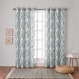 Exclusive Home Gardinen mit Tülle, Fenster-Gardinenpaneel- Paar, Polyester, blaugrün, 96