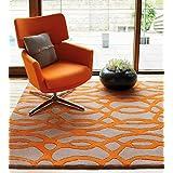 Alfombra de diseño 100% 200x300cm Alfombra de lana Contemporáneo Maiden alambre Orange Orange
