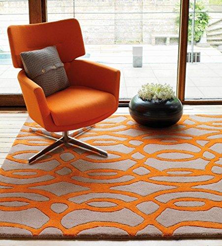 Preisvergleich Produktbild Handgewebter Teppich Matrix in Orange Rug Size: 120 x 170cm